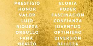 Significado del color dorado en psicología