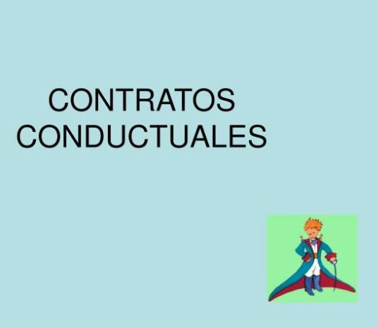 Contratos conductuales y Sistemas de organización de contingencias