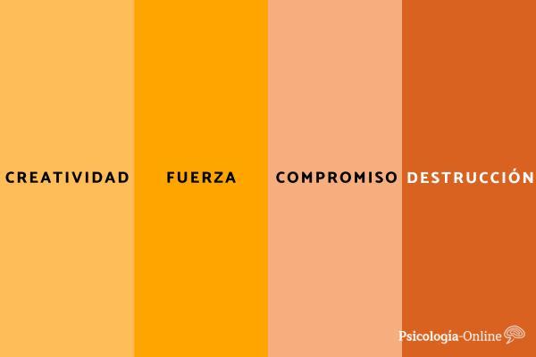 Significado del color naranja en psicología