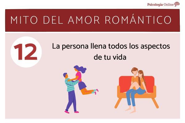 Mitos del amor romántico y la realidad - La persona llena todos los aspectos de tu vida