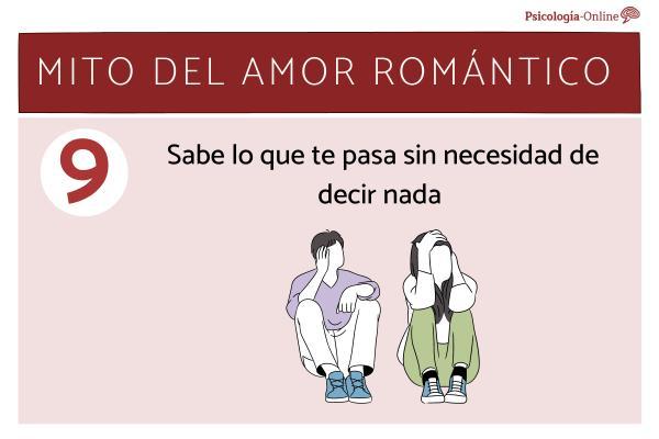 Mitos del amor romántico y la realidad - Sabe lo que te pasa sin necesidad de decir nada