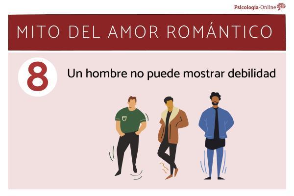 Mitos del amor romántico y la realidad - Un hombre no puede mostrar debilidad