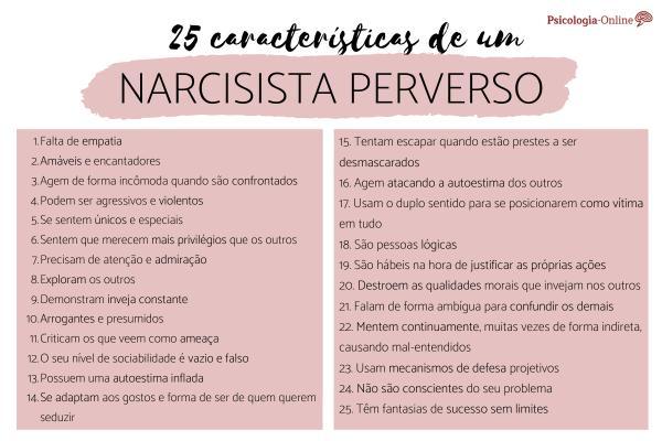 Narcisista perverso: características e como lidar com um -  Como identificar um narcisista perverso: 25 características